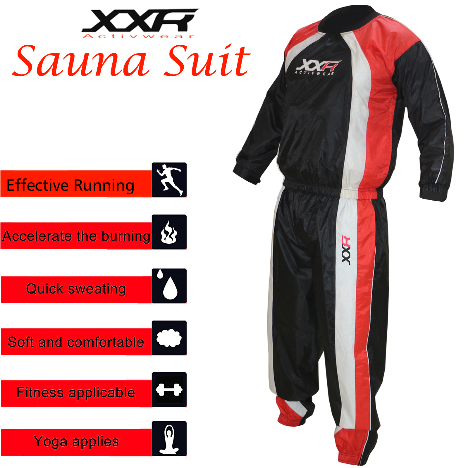 XXR Hot Slimming Neoprene Sweat Suit Bodysuit Vest For Weight Loss Sauna Suit